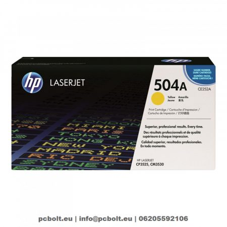 HP CE252A (504A) Yellow toner