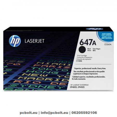 HP CE260A (647A) Black toner