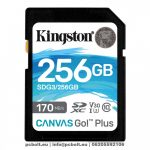 Kingston 256GB SDXC Canvas Go! Plus 170R C10 UHS-I U3 V30