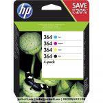 HP N9J73AE (364) Black + Color tintapatron