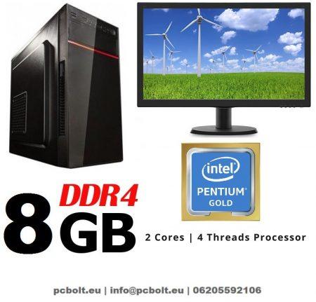 Komplett számítógép: AMD X2 A4 3,7Ghz CPU + 18,5&quot LED monitor!
