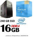 Komplett számítógép: Intel Pentium G3260 3.3Ghz 2 magos  CPU+Nvidia GT 610 1GB Videókártya