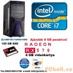 Gamer PC: Core i5 4 magos CPU + AMD Radeon RX 570 4GB VGA + 120GB SSD