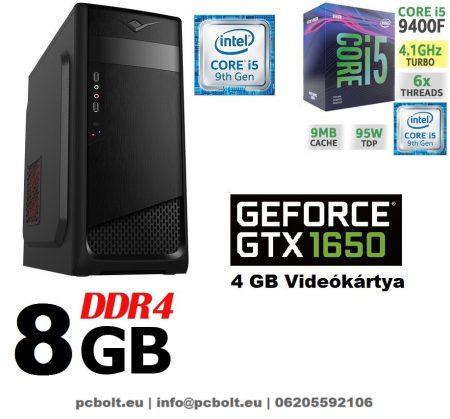 Gamer PC: Intel Core i5 4magos CPU+ Nvidia GTX 1050Ti 4GB VGA+ 8GB DDR4 RAM