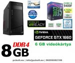 Gamer PC: Intel Core i5 4magos CPU+ Nvidia GTX 1060 3GB VGA+ 8GB DDR4 RAM