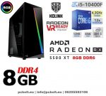 Gamer PC: Intel Core i5 4magos CPU+ AMD Radeon RX 480 4GB VGA+8GB DDR4 RAM