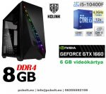 Gamer PC: Intel Core i5 4magos CPU+ Nvidia GTX 1060 6GB VGA+ 8GB DDR4 RAM