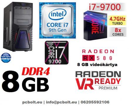 Gamer PC: Intel Core i7 CPU+ AMD Radeon RX 580 8GB VGA+8GB DDR4 RAM