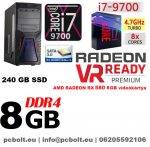 Gamer PC: Intel Core i7 CPU+ AMD Radeon RX 580 8GB VGA+8GB DDR4 RAM