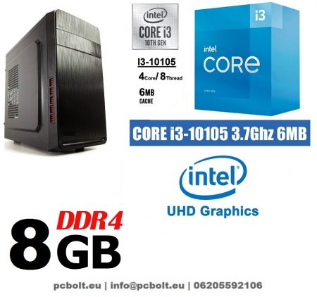 Asztali PC: Intel Core i3 CPU+4GB DDR4 RAM+1TB HDD