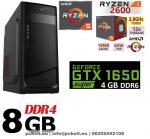Gamer PC: AMD RYZEN 5 6 magos CPU+ NVIDIA GTX 1650 SUPER 4GB DDR6 VGA+8GB DDR4 RAM