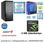Kezdő Gamer PC: Intel Core i3 CPU+ Nvidia GT 730 2GB VGA+4GB DDR4 RAM
