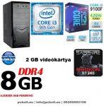 Kezdő Gamer PC: Intel Core i3 CPU+ AMD Radeon R7 240 2GB VGA+4GB DDR4 RAM