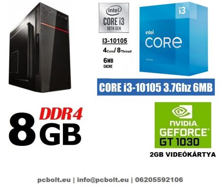 Gamer PC: Intel Core i3 CPU+ Nvidia GT 1030 2GB VGA+8GB DDR4 RAM