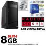 Gamer PC: Intel Core i3 CPU+ AMD Radeon RX 460 2GB DDR5 VGA+4GB DDR4 RAM