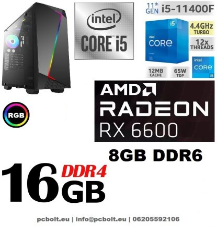 Gamer PC: Intel Core i3 CPU+ AMD Radeon RX 570 4GB VGA+4GB DDR4 RAM