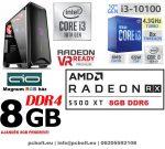 Gamer PC: Intel Core i3 CPU+ AMD Radeon RX 480 4GB VGA+4GB DDR4 RAM