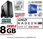 Gamer PC: Intel Core i3 CPU+ AMD Radeon RX 580 8GB VGA+4GB DDR4 RAM