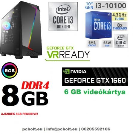 Gamer PC: Intel Core i3 CPU+ Nvidia GTX 1060 3GB VGA+4GB DDR4 RAM