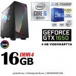 Gamer PC: Intel Core i5 4magos CPU+ Nvidia GTX 1050 2GB VGA+4GB DDR4 RAM