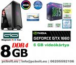 Gamer PC: Intel Core i5 4magos CPU+ Nvidia GTX 1060 3GB VGA+ 8GB DDR4 RAM