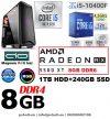 Gamer PC: Intel Core i5 4magos CPU+ AMD Radeon RX 580 8GB VGA+8GB DDR4 RAM