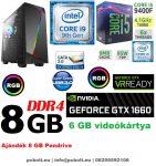 Gamer PC: Intel Core i5 4magos CPU+ Nvidia GTX 1060 6GB VGA+ 8GB DDR4 RAM