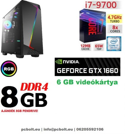 Gamer PC: Intel Core i7 CPU+ Nvidia GTX 1060 3GB VGA+ 8GB DDR4 RAM