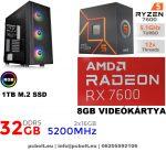 Gamer PC: Intel Core i7 CPU+ AMD Radeon RX 480 4GB VGA+8GB DDR4 RAM