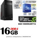 Gamer PC: Intel Core i7 CPU+ Nvidia GTX 1070 8GB VGA+ 16GB DDR4 RAM+120GB SSD