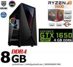 Gamer PC: AMD RYZEN 6 magos CPU+ Nvidia GTX1650 SUPER 4GB VGA+8GB DDR4 RAM