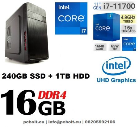 Premium PC Intel Core i7-7700 CPU+ 120 GB SSD+1TB HDD+16GB DDR4 RAM