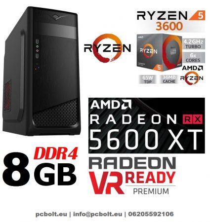 Gamer PC: AMD RYZEN 5 1600  6 magos CPU+Radeon RX 570 4GB VGA+8GB DDR4 RAM