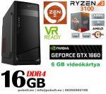 Gamer PC: AMD RYZEN 5 1400 CPU+GTX 1060 6GB VGA+16GB DDR4 RAM