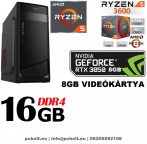 Gamer PC: AMD RYZEN  6 magos CPU+GTX 1660 6GB VGA+8GB DDR4 RAM