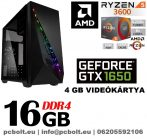 Gamer PC: AMD RYZEN  6 magos CPU+GTX 1650 4GB VGA+8GB DDR4 RAM
