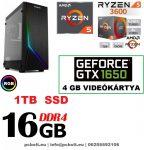 Gamer PC: AMD RYZEN  6 magos CPU+GTX 1650 4GB VGA+8GB DDR4 RAM