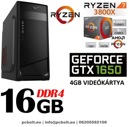 Gamer PC: AMD RYZEN 7 1700 8 magos CPU+GTX 1060 6GB VGA+16GB DDR4 RAM