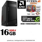 Gamer PC: AMD RYZEN 7 1700 8 magos CPU+GTX 1070 8GB VGA+16GB DDR4 RAM