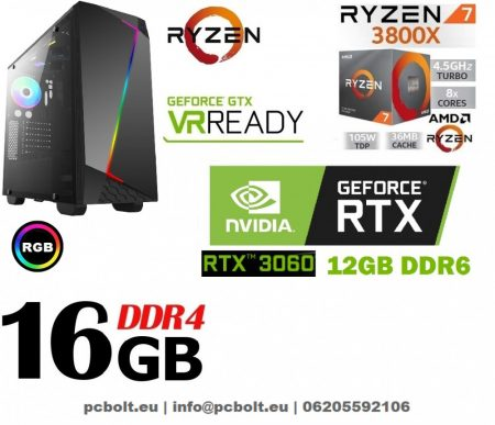 Gamer PC: AMD RYZEN 7 1700 8 magos CPU+GTX 1080 8GB VGA+16GB DDR4 RAM