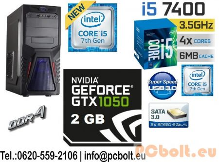 Gamer PC: Intel Core i5 4magos CPU+ Nvidia GTX 1050 2GB VGA+8GB DDR4 RAM