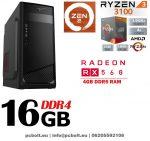 Gamer PC: AMD RYZEN 5 4 magos CPU+ AMD Radeon RX 550 4GB DDR5 VGA+8GB DDR4 RAM