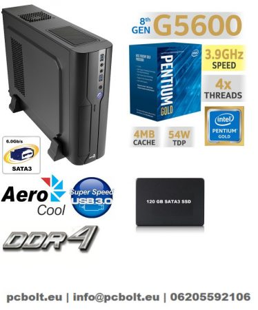 Vékony PC: Intel Pentium CPU+4GB DDR4 RAM+120GB SSD