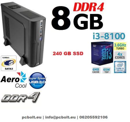Vékony PC: Intel Core i3 CPU+8GB DDR4 RAM+240GB SSD