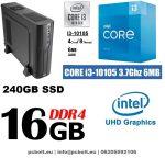 Vékony PC: Intel Core i3 CPU+8GB DDR4 RAM+240GB SSD+GTX 1050 2 GB VGA