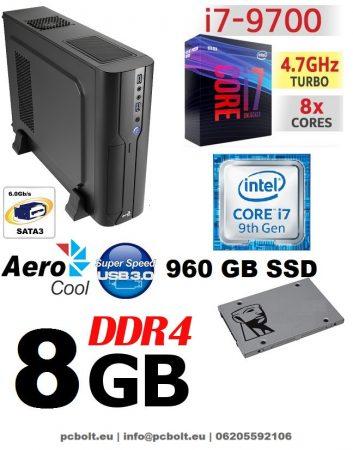 Vékony PC: Intel Core i7 CPU+8GB DDR4 RAM+120GB SSD