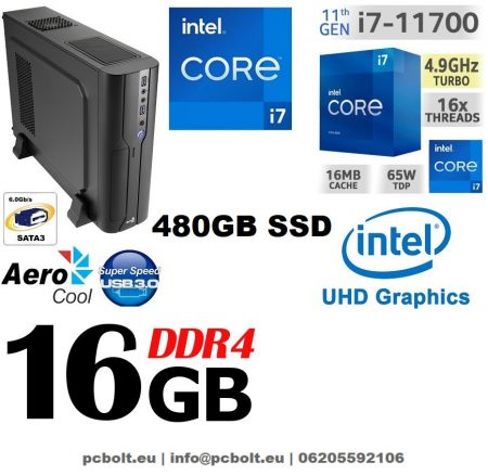 Vékony PC: Intel Core i7 CPU+16GB DDR4 RAM+240GB SSD