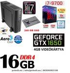Vékony PC: Intel Core i7 CPU+16GB DDR4 RAM+240GB SSD+GTX 1050 2 GB VGA