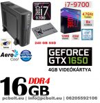 Vékony PC: Intel Core i7 CPU+16GB DDR4 RAM+240GB SSD+GTX 1050 2 GB VGA