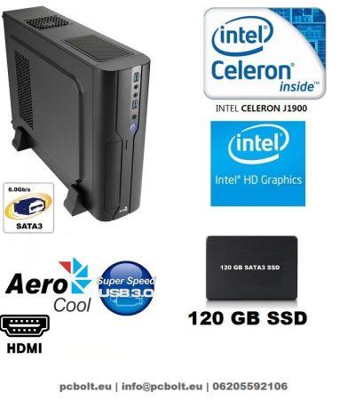 Vékony PC: AMD 3.8Ghz 2 magos CPU+4GB DDR4 RAM+120GB SSD